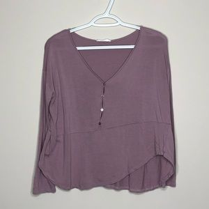 Asymmetrical Long Sleeve Top LUSH
